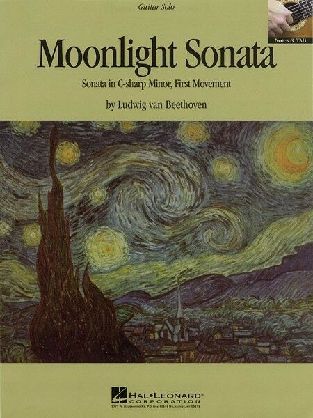 Moonlight Sonata Sheet Music Classical Guitar Solo Guitar Sheet NEW 000663018