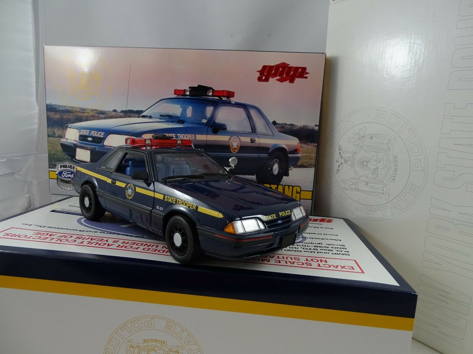 1 18 Gmp   9066-1988 Ford Mustang New York State Trooper - Rareza§