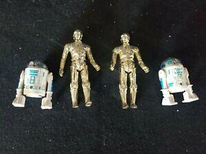 Vintage 1977 R2d2 And C3P0 Action Figures. 2 Complete Sets Star Wars Kenner