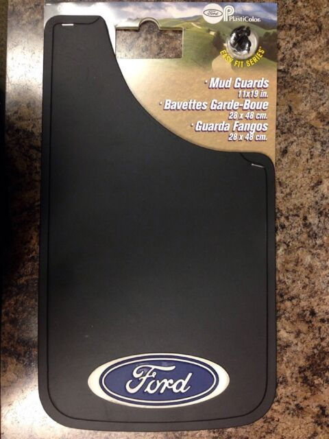 Plasticolor Ford Oval Logo Easy Fit Mud Guard 11 Set of 2 000506R01