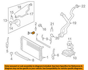 UPPER RADIATOR RUBBER MOUNT AUDI A4 A6 ALLROAD RS4 RS6-4B3121276A