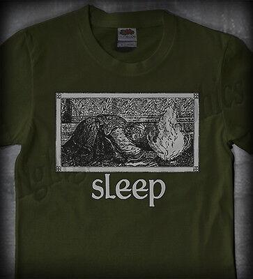 SLEEP #03 JERUSALEM (GREEN) •OFFICIAL SHIRT• (om high on fire weedian stoner)