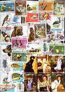 MOZAMBIQUE collections de 50 à 300 timbres différents