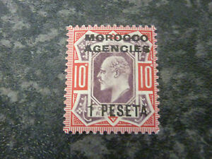MOROCCO-AGENCIES-BPO-POSTAGE-STAMP-SG120-1P-ON-10D-LIGHTLY-MOUNTED-MINT