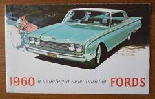 FORD orig 1960 USA Mkt sales brochure - Galaxie Thunderbird Falcon Fairlane 500