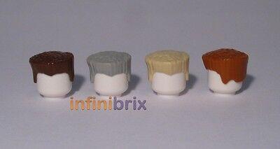Brown, Tan, arancione NUOVISSIMO 30608 3x LEGO Capelli Pezzi Maschio Flat Top Crew taglio