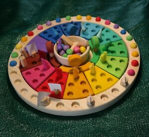 Calendario Montessori.Detalles De Calendario Apilable Montessori Waldorf