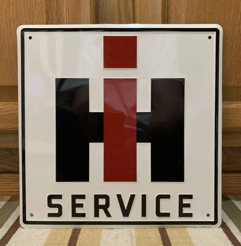 International Harvester IH Metal Sign Service Farm Equipment Barn Tractor Feed