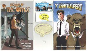 The Office used prop staple Sticky Quips Adventures of Jim Halpert/Return comics