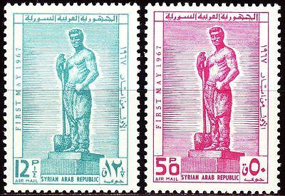 Mittlerer Osten Zielstrebig Syrien Syria 1967 ** Mi.967/68 Tag Der Arbeit Labour Day Denkmal Monument Dinge Bequem Machen FüR Kunden Briefmarken