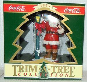 Santa Claus Coke Ornament Christmas Trim A Tree Collection 1955 Coca Cola