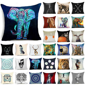 Animals-Polyester-Throw-Pillow-Case-Pillow-Cover-Cushion-Cover-Home-Decor-NT