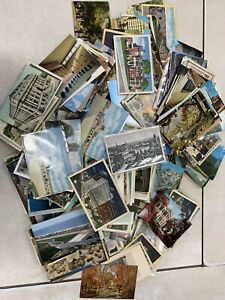 Lot-Of-500-Vintage-Antique-Postcards-Mostly-Linen-Few-Divided-Domestic-Inter