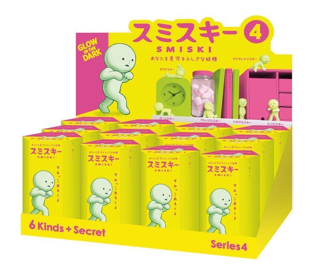 Smiski brillan en la oscuridad serie 4 secreto Mini Figura Conjunto de 12 Coleccionables