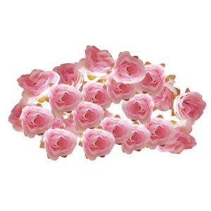 50x fake roses artificial silk flowers heads bulk wedding diy decor image is loading 50x fake roses artificial silk flowers heads bulk mightylinksfo