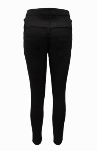 WAKEE ULTRA HIGH RISE 3 BUTTON JEAN IN BLACK.