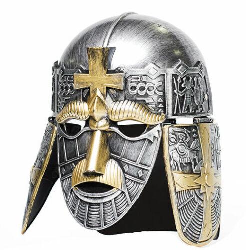 Silver Crusader Helmet Gladiator Halloween Costume Hat Accessory Adult Men