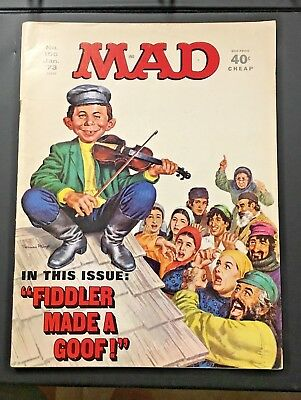 Mad Magazine 156 January 1973 Fiddler On The Roof Cover