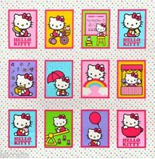 12 BEAUTIFUL HELLO KITTY PANELS FOR QUILTS HOME DECOR & OTHER PROJECT
