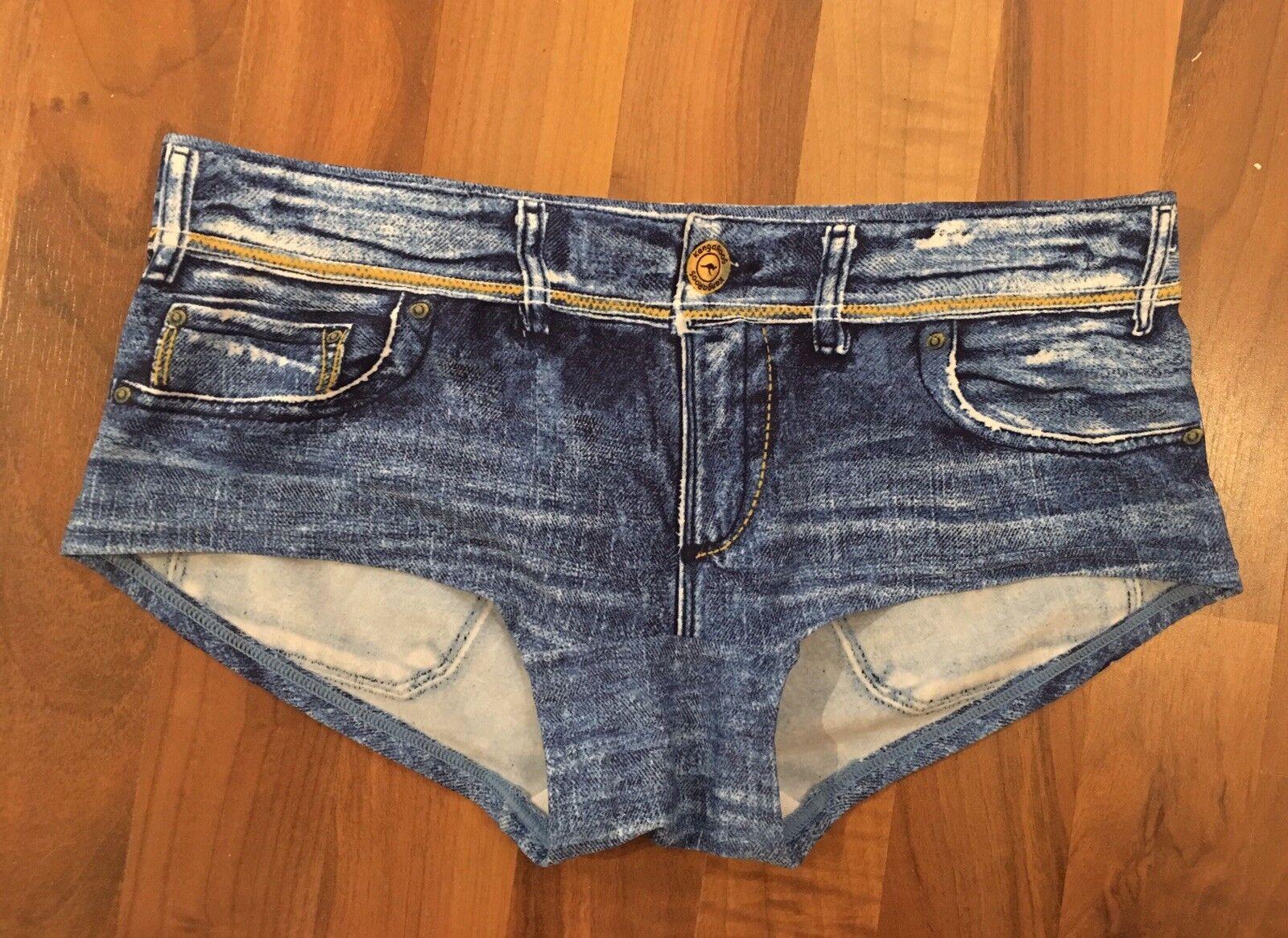 KangGoldos Jeans Hot Pants Pants Pants Swimwear Schwimmhose Blau Jeans Look Gr. XS 32 | Modern Und Elegant In Der Mode  | Am wirtschaftlichsten  | Authentisch  | Ausgezeichnetes Preis  | Spielzeugwelt, glücklich und grenzenlos  1e4239