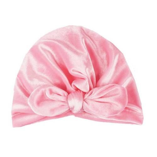 Infant Baby Beanie Turban Cute Hats Bow Knot Cap Girls Soft Head Wraps  Headband
