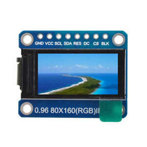 1X-Ips-0-96-Inch-8-Pin-Spi-Hd-65K-Full-Color-Tft-Module-St7735-Drive-Ic-80-3V5