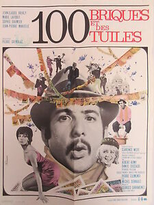 Old-1965-French-Movie-Poster-100-Briques-et-des-Tuiles-Jean-Claude-Brilay