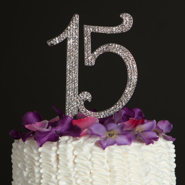15 Cake Topper 15th Birthday Anniversary Quinceaera Party Supplies