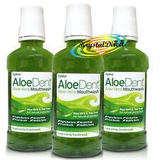 3x Aloe Dent Aloe Vera Alcohol Fluoride Free Mouthwash 250ml
