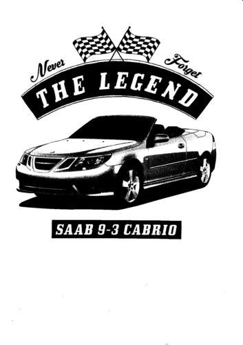 youngtimer Car Oldtimer Saab 9-3 Cabriolet T-Shirt