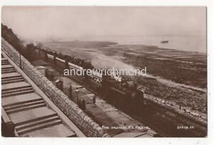 The-Mumbles-Train-Swansea-Vintage-RP-Postcard-Railway-South-Wales-Glamorgan-143c