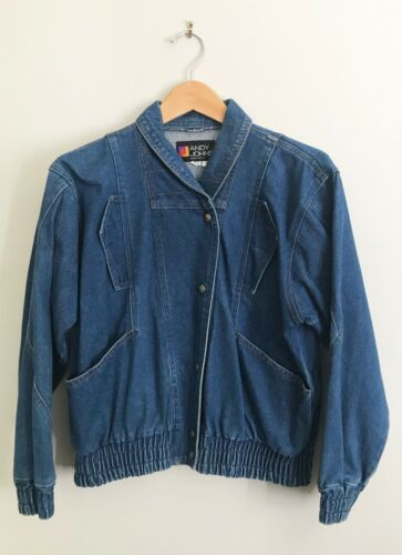 VINTAGE 80s OVERSIZED ANDY JOHNS INDIGO DENIM JACK