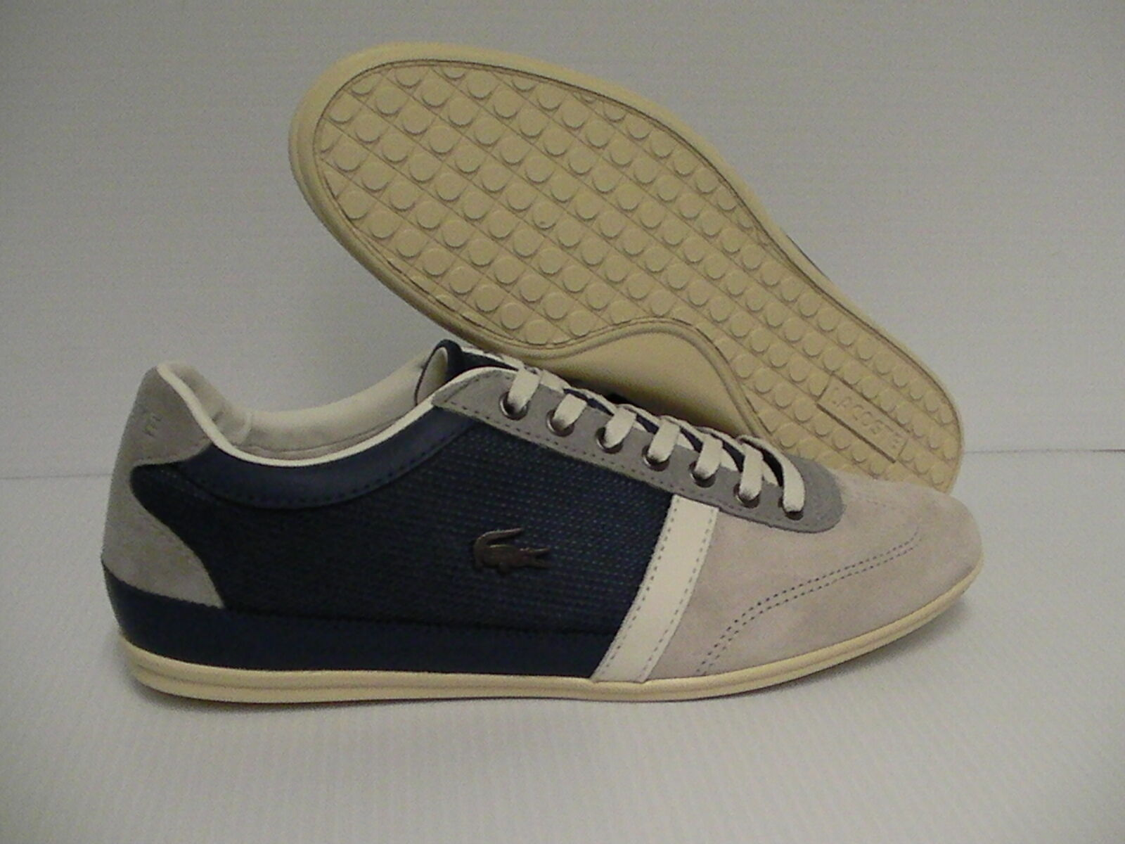 Lacoste Men's shoes casual Leather suede Textile Misano 28 size 9 us bluee
