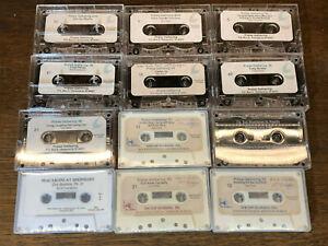 (Qty 12) Cassette Tapes Church Praise Gathering - Dr. Bartlette, Jim Mathews LOT