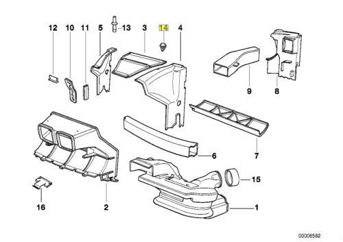 BMW E31 Compartiment Moteur Clip Garniture Twist Cadenas 8123354 51718123354