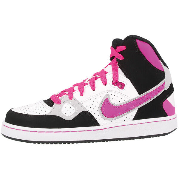 Nike Son Of Force Mid Chaussures de Gs Retro Baskets Montantes Blanc Rose