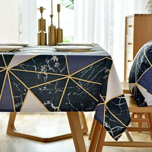 Nordique Imperméable Nappe Housses Rectangle Géométrique de Table Décor Maison