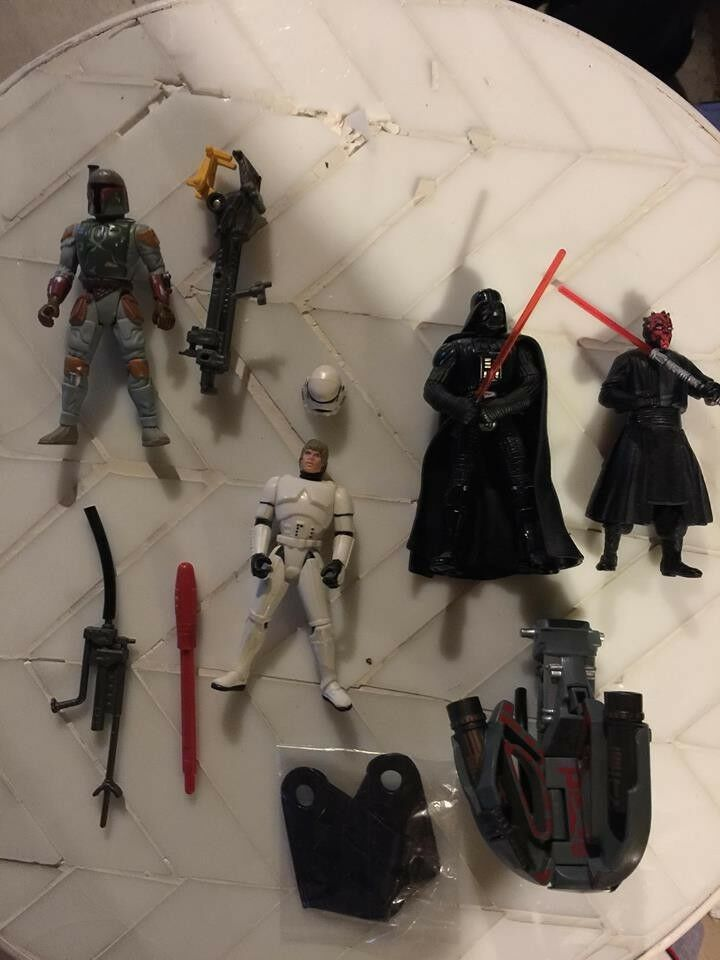 Star Wars Power of the Force Figure LOT Darth Vader Darth Maul etc. Free Ship