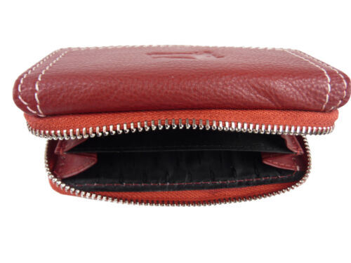 Damen Leder Geldbörse Portemonaie Damenbörse Geldbeutel handlich purse 087//n