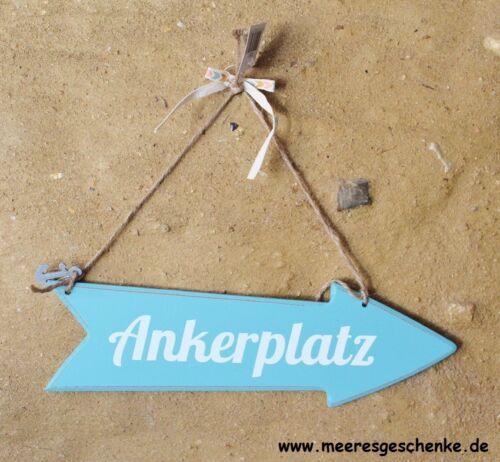"Schild maritim als Pfeil /""Ankerplatz/"" Holz ca 20 x 30 cm Pfeilgröße 9 x 30 cm"