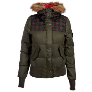 Details about Adidas Women's Neo AOP Down Jacket Ladies Winter Coat Hooded Jacket G79995