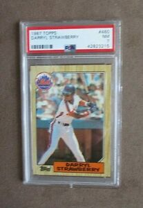 1987 Topps Baseball Darryl Strawberry Card #460 PSA Graded 7 NM