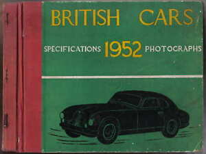 British-Cars-of-1952-motor-annual-by-Chambers-with-Specifications-amp-Photographs