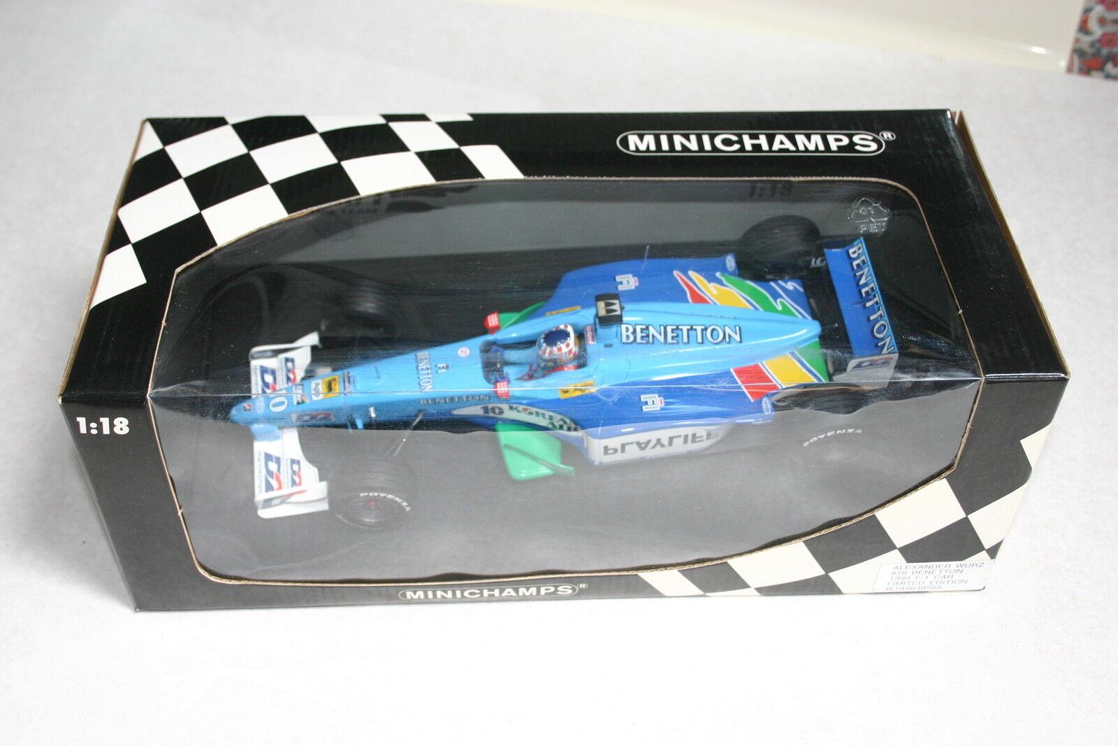 1 18 Minichamps Formel Eins Benetton Alexander Wurz Playlife Koreanische Luft