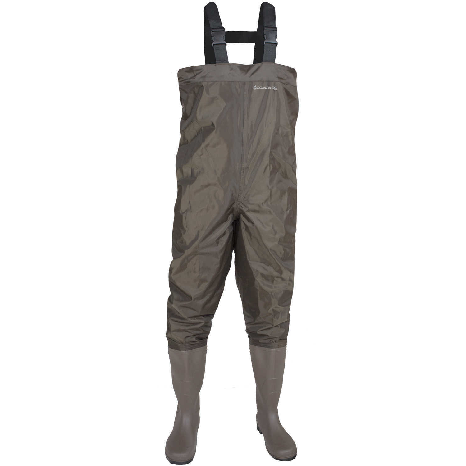 Compass 360 Windward PVC Cleated Sole Chest Waders Size 7