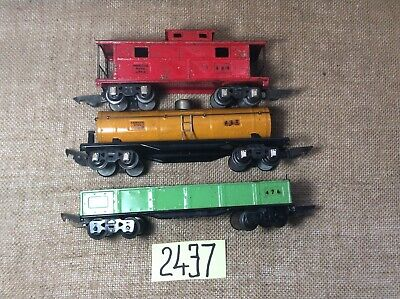 Toys & Hobbies Freight Cars #484 Caboose O Provided Set Of Three American Flyer Prewar Cars #476 Gondola,#480 Tank