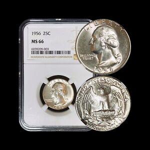 1956-Washington-Quarter-Silver-NGC-MS-66-GEM-UNC