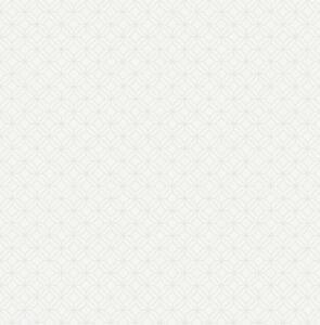 Tapete-Luxustapete-geometrische-Applikationen-Retro-Schimmer-Ecru-Hellgrau