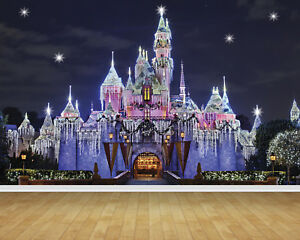 Details About Disney Castle Magic Kingdom Bespoke Wallpaper Backdrop Wall Mural Feature Decal