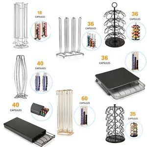 Coffee-Capsule-Rack-Holder-Dispenser-Revolving-Coffee-Pod-Stand-Drawer-Storage